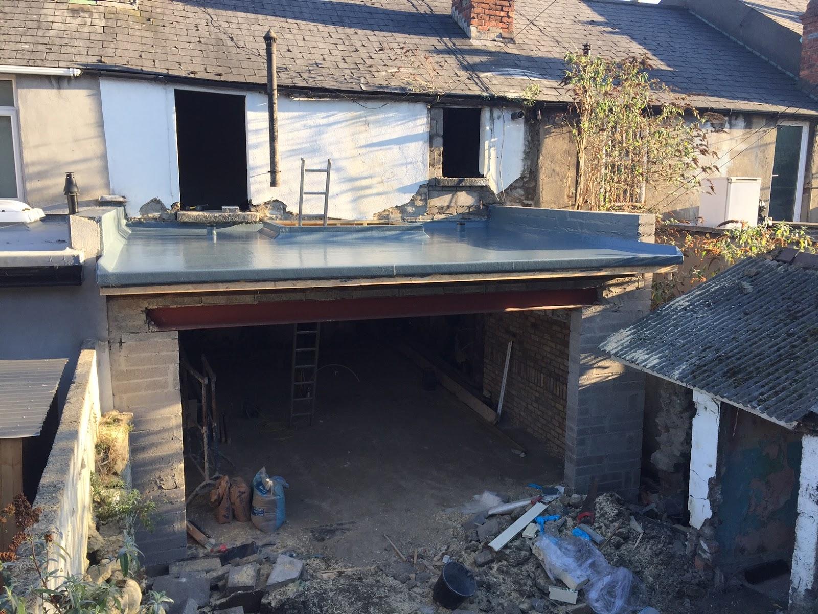 Fiberglass Extension Roof Complete