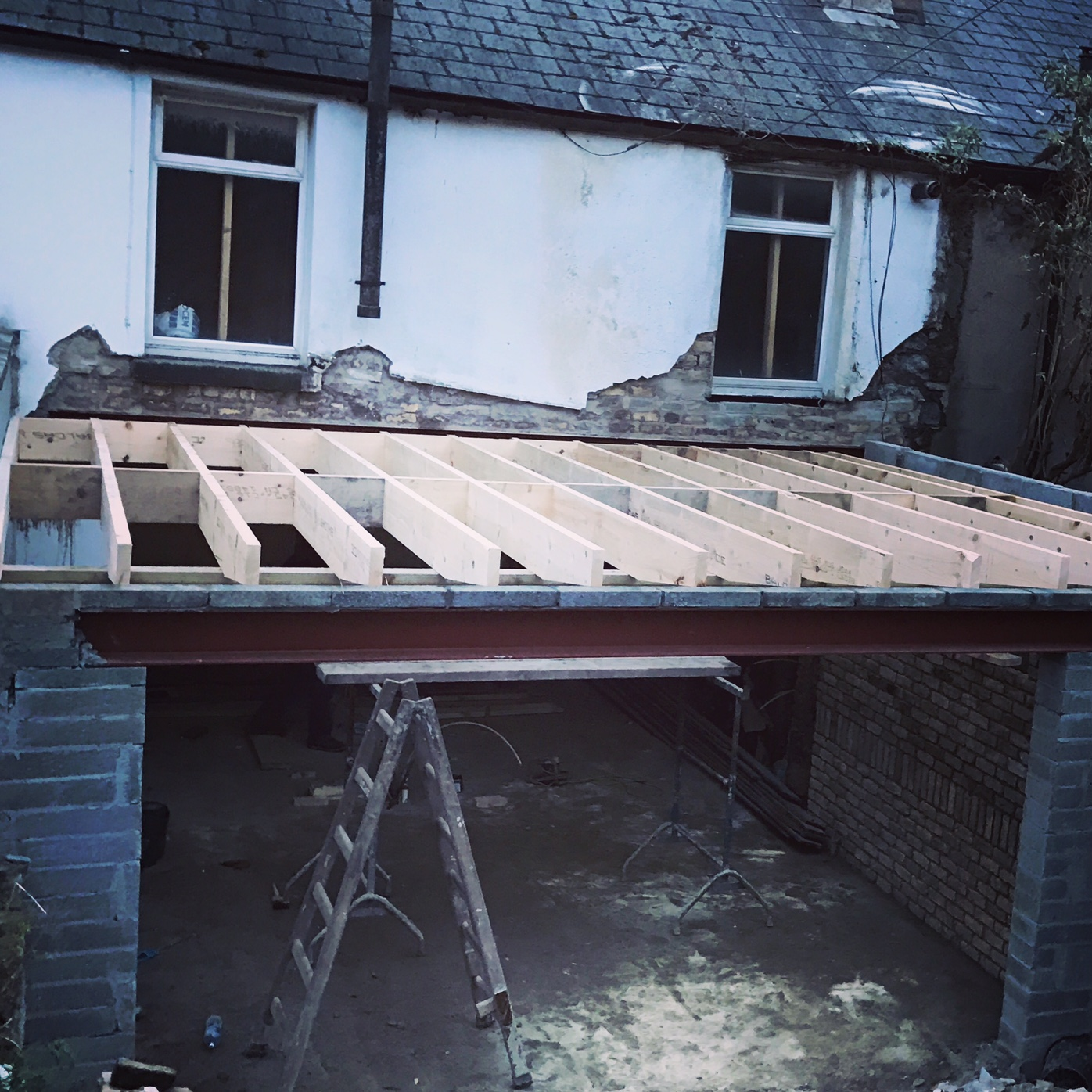 Ceiling Joists in Place