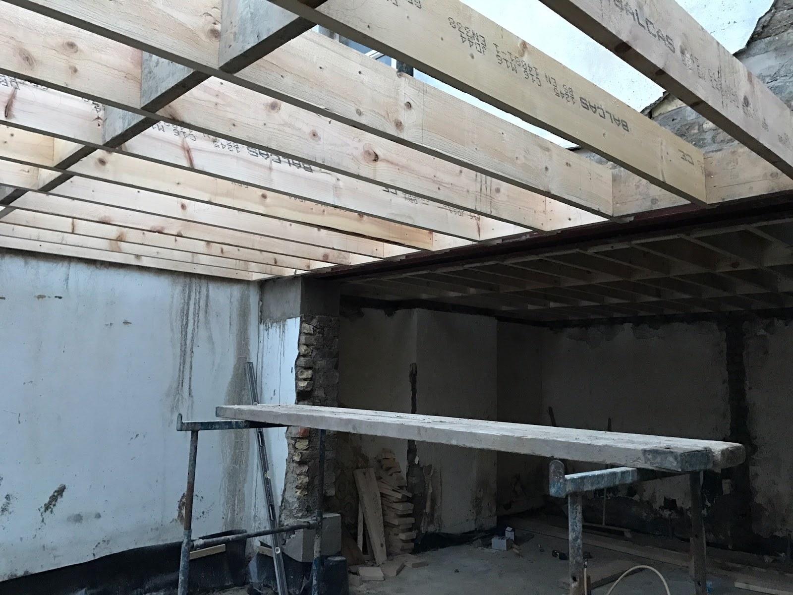 View of roof from inside Extension