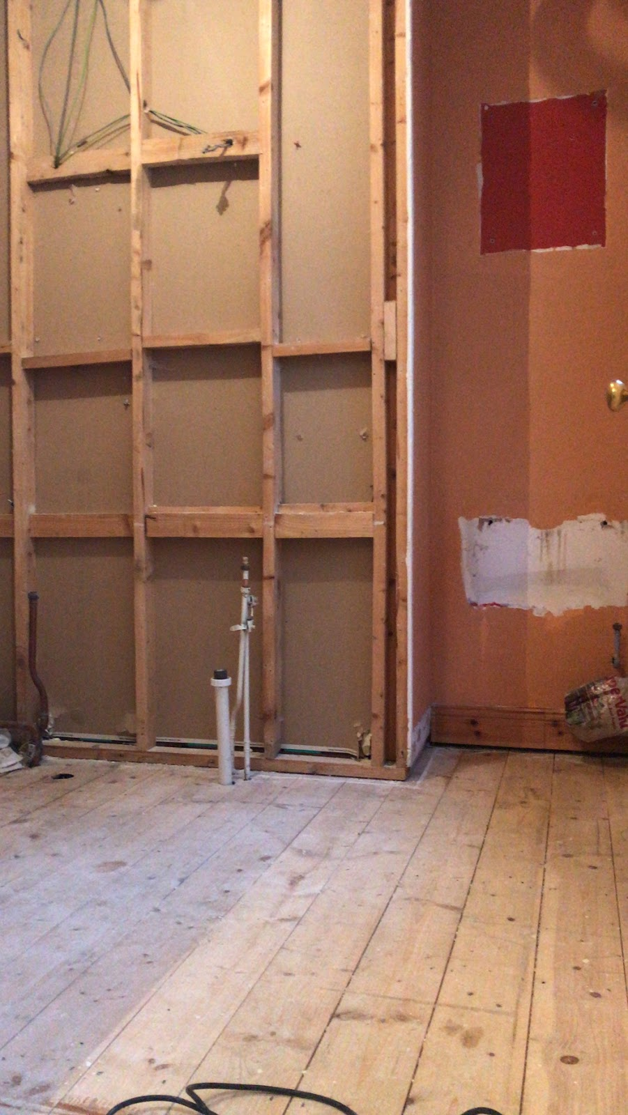 Old bathroom suite removed