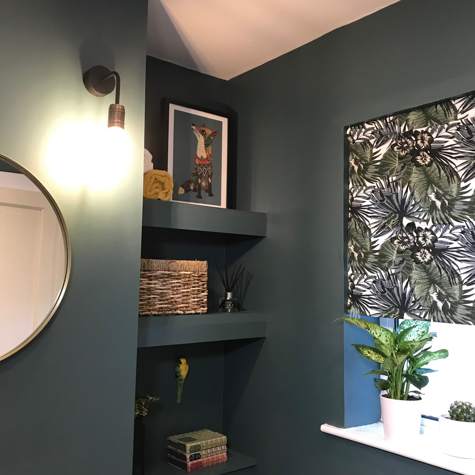 Inexpensive shelving solution built into alcoves