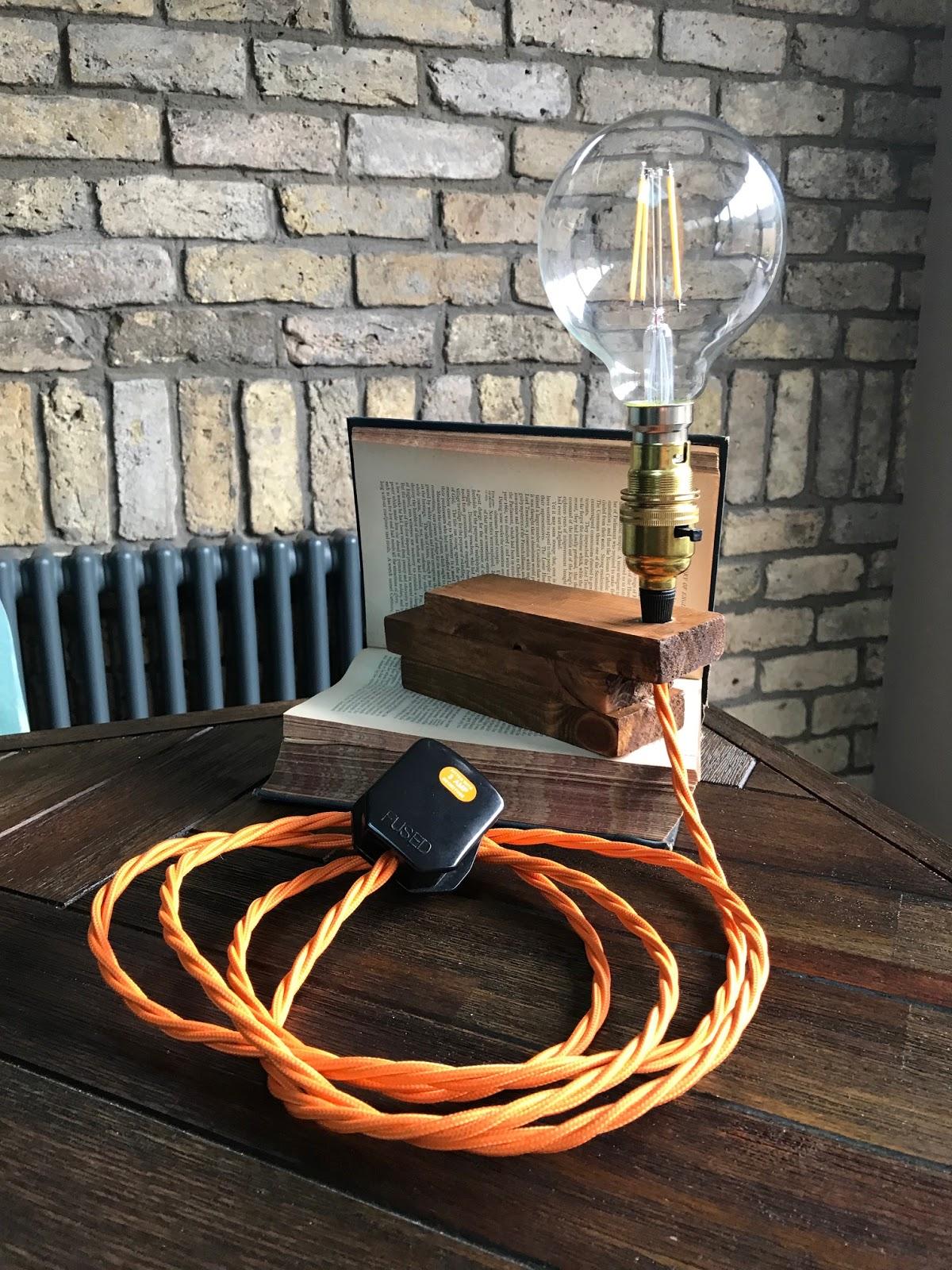 Finished Vintage Book Lamp