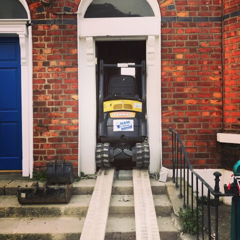 Once a mini digger goes through your front door, there really is no going back