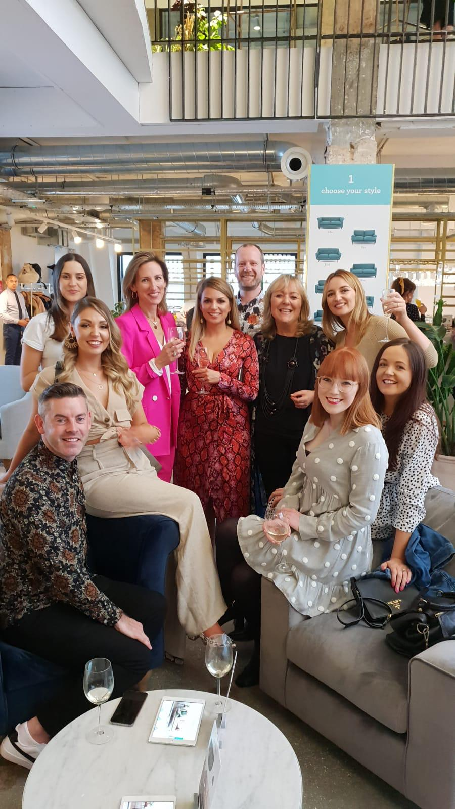 Irish Crew in London at DFS So Simple Sofa Launch