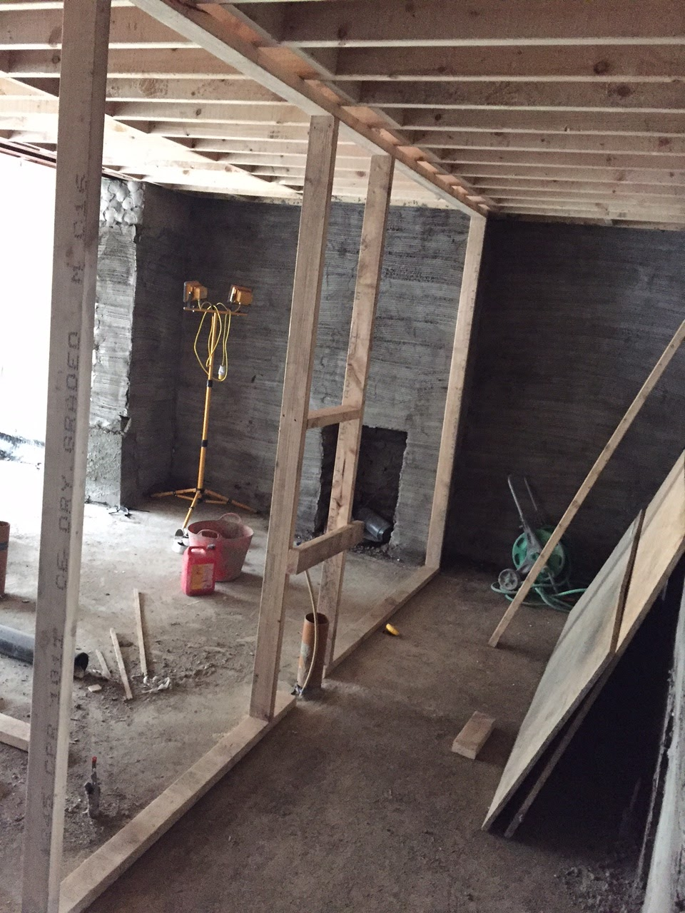 Frame goes in for stud wall