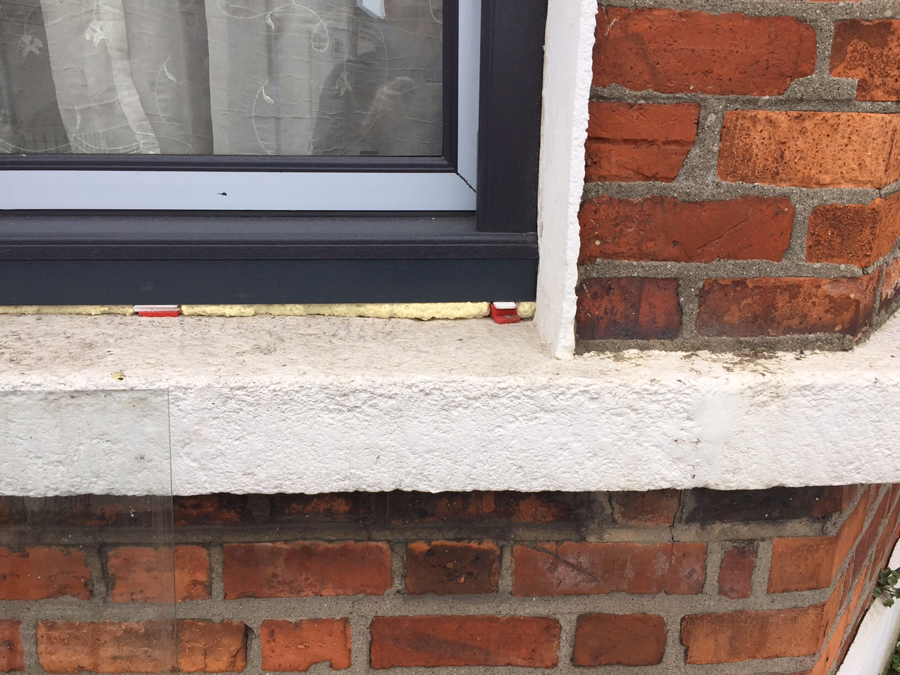 Ugly white paint on our sills