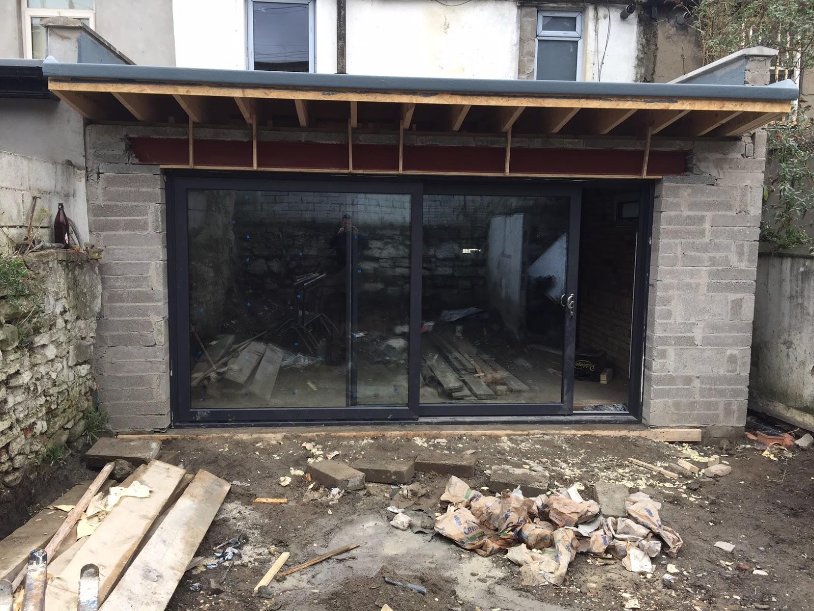Grey Slider Door