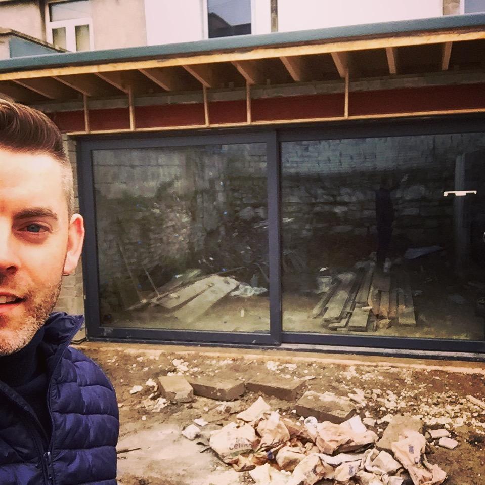 Darran's Selfie with new door :)