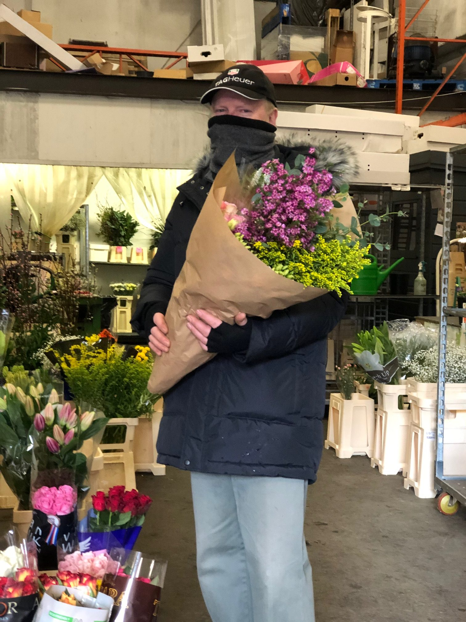 Fresh flowers purchased from Joe